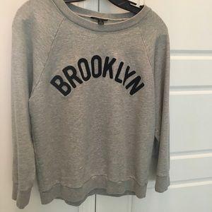 J. Crew Brooklyn Gray Sweatshirt M Top